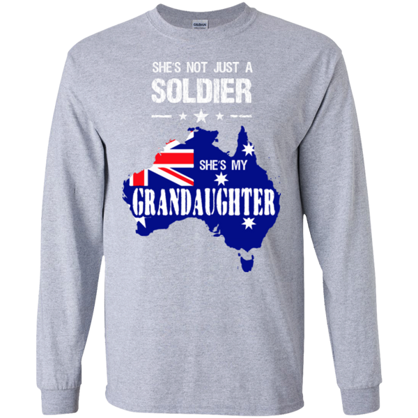 Soldier Tshirt granddaughter Australia LS Ultra Cotton Tshirt