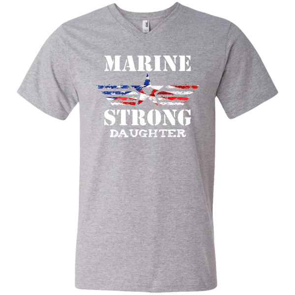 Marine Daughter Printed V-Neck T