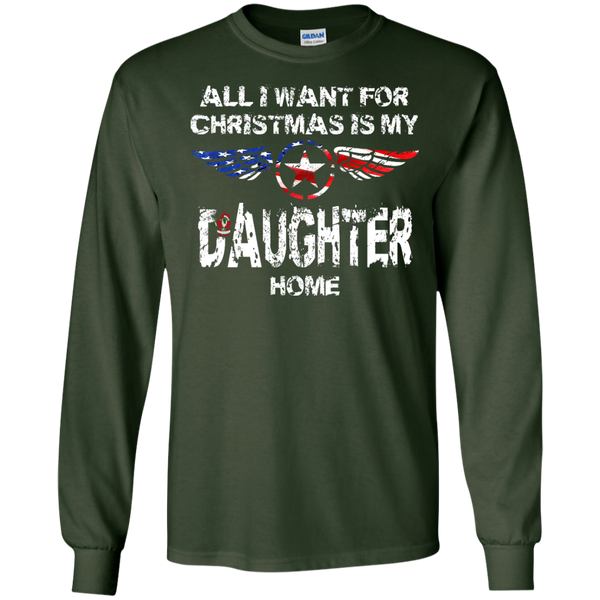Christmas Daughter LS Ultra Cotton Tshirt