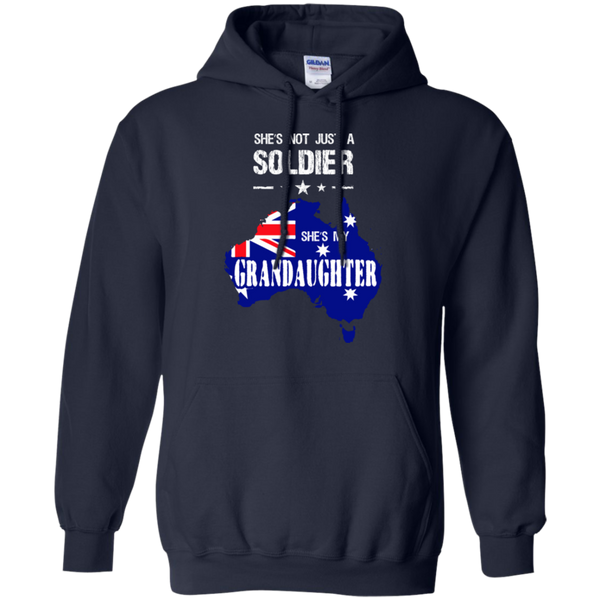 Military Granddaughter Australia Pullover Hoodie 8 oz