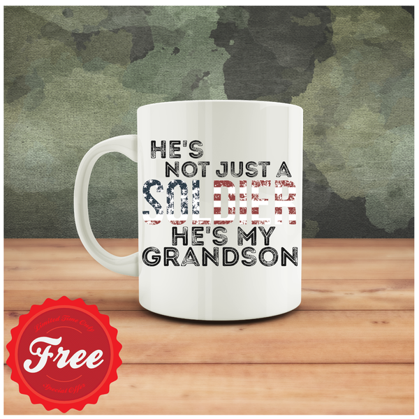 FREE Not Just a Soldier Mug