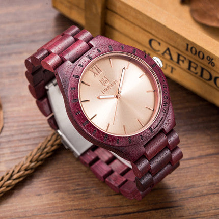 Mens Wooden Quartz Luxury Wooden Wristwatch