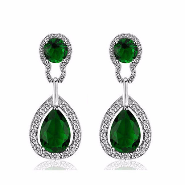 Top Quality Crystal Rhinestone Water Drop Earrings For Grandma