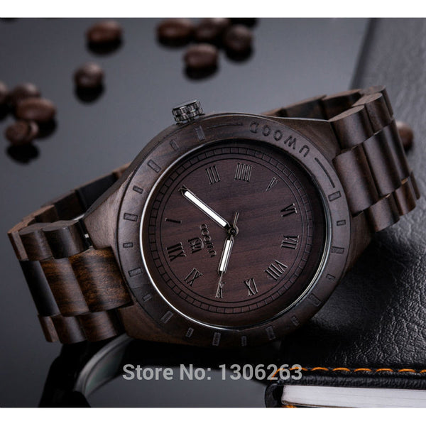 Grandpa Beautiful Dark Wooden Gift Watch