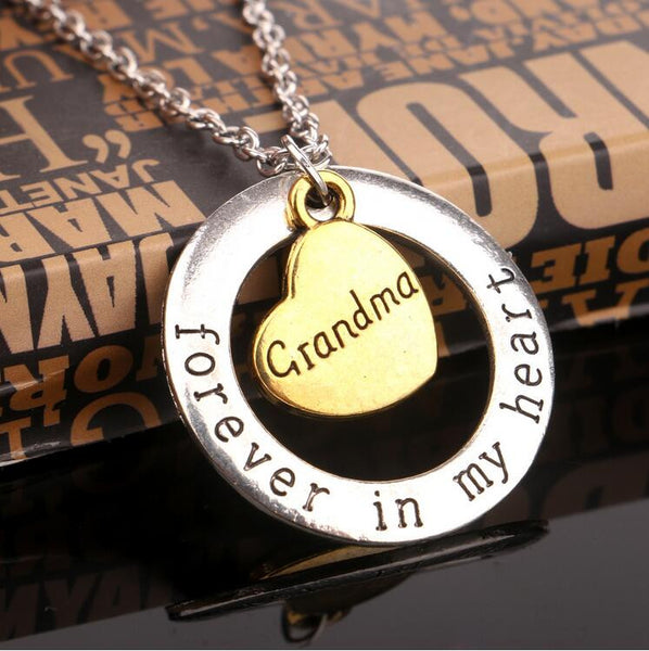 I Love You Moon Grandma Necklace Pendant For GrandDaughter