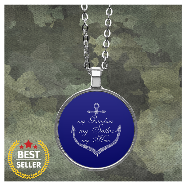 My Grandson, My Sailor, My Hero Necklace
