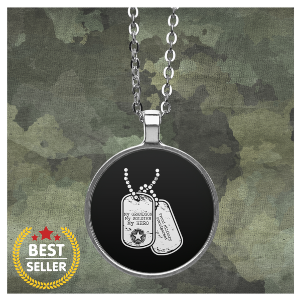 My Soldier, my Grandson, My Hero Necklace