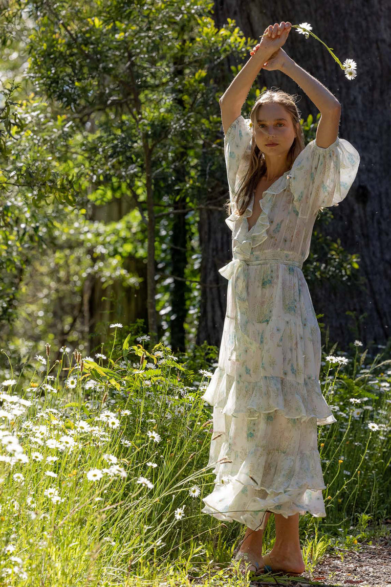 Sweet Pea - Spiral Maxi Dress