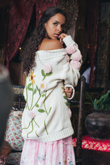 FILLYBOO - 'A STITCH IN TIME' - HAND KNITTED SWEATER - IVORY