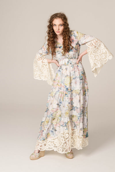 FILLYBOO - 'ABOUT MELODY' - HAND EMBROIDERED DRESS - FLORAL