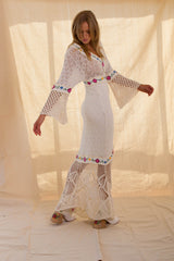 FILLYBOO - 'ALL TOGETHER NOW' HAND CROCHETED & EMBROIDERED DRESS