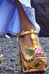FILLYBOO - AT THE HEART OF IT - PLATFORM WEDGES - GOLD