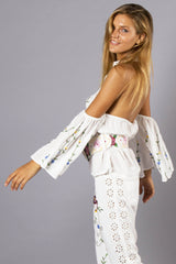 FILLYBOO - ALEX 'AT THE HEART OF IT' TOP - IVORY