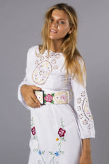 FILLYBOO - AT THE HEART OF IT - DENIM BELT - WHITE