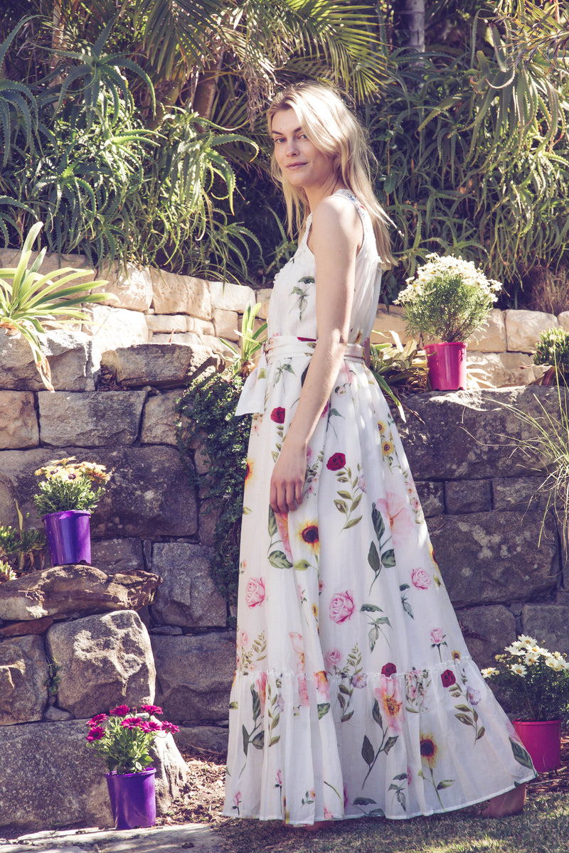 Fillyboo - Babylon's Garden - Embroidered maxi dress