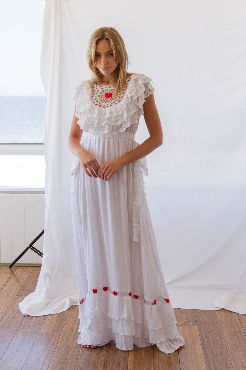 FILLYBOO - 'CHARLOTTES WEB' - EMBROIDERED GOWN - WHITE