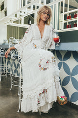 FILLYBOO - 'CHARM YOUR WAY' - EMBROIDERED MAXI DRESS/DUSTER