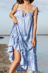 Charm Your Way - Camisole Midi Dress - Kentucky Blue