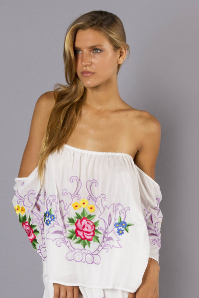 FILLYBOO - 'CITY OF ANGELS' OFF-SHOULDER TOP - IVORY