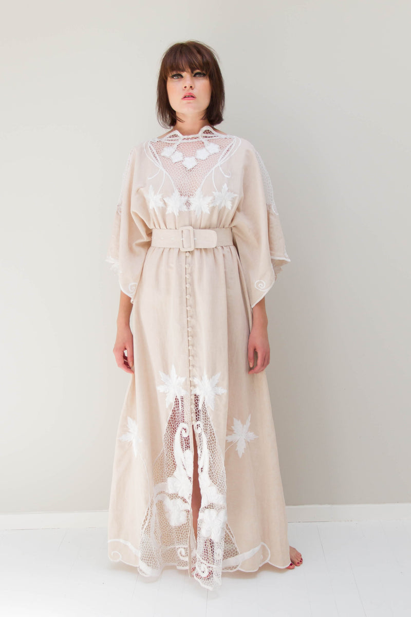Fillyboo - Daisy Chain Reaction Gown - Beige
