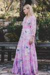 Fillyboo - Daisy Island - Batik & embroidered maxi dress