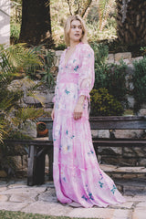 FILLYBOO - 'DAISY ISLAND' - BATIK & EMBROIDERED MAXI DRESS