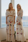 FILLYBOO - 'DOLL HOUSE' - EMBROIDERED MAXI DRESS
