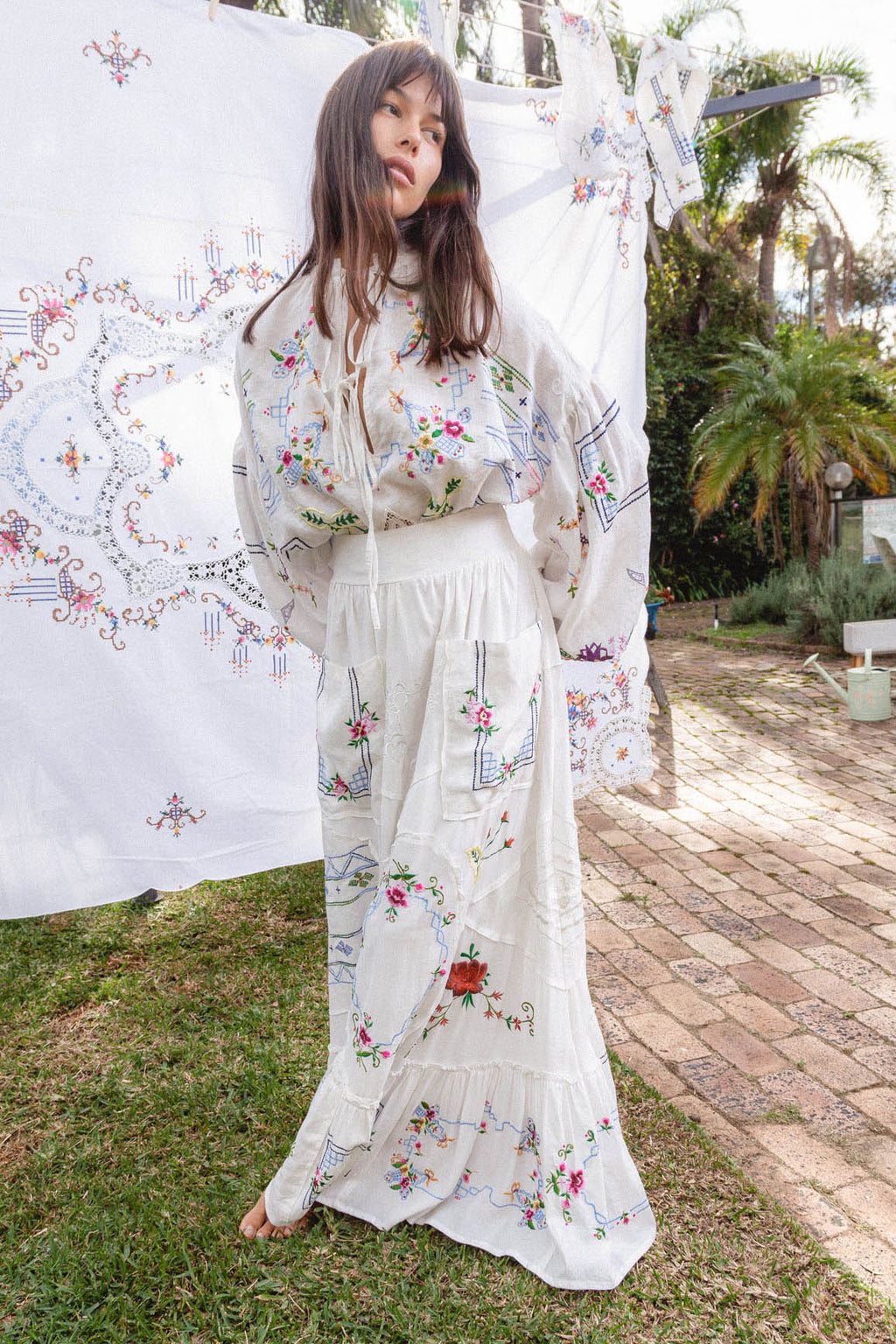 Dream In Colour - Embroidered Maxi Skirt