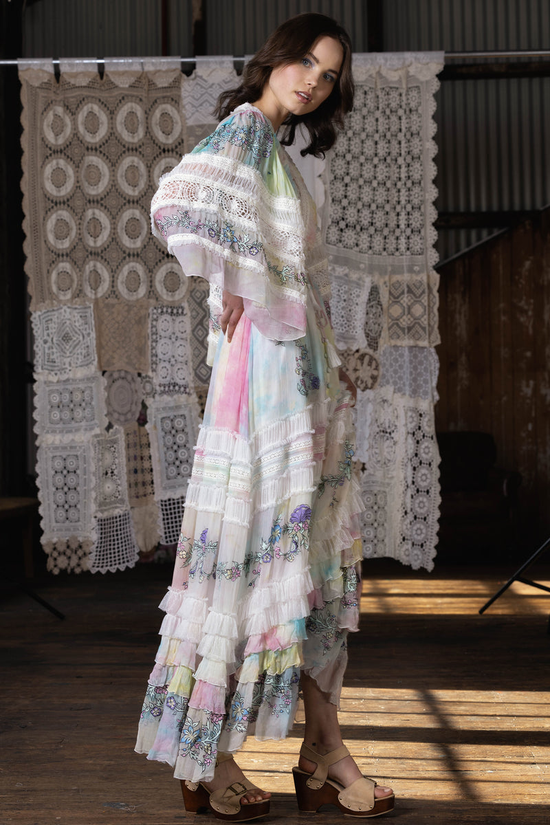 Enchanted - Embroidered maxi dress/duster - Santa Monica Tie Dye