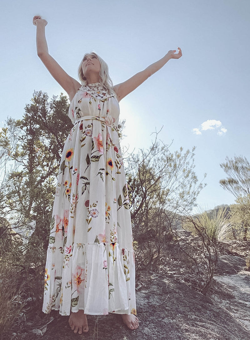 Babylon's Garden - Embroidered maxi dress