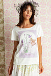 Fairy Garden - T-shirt with raw edge