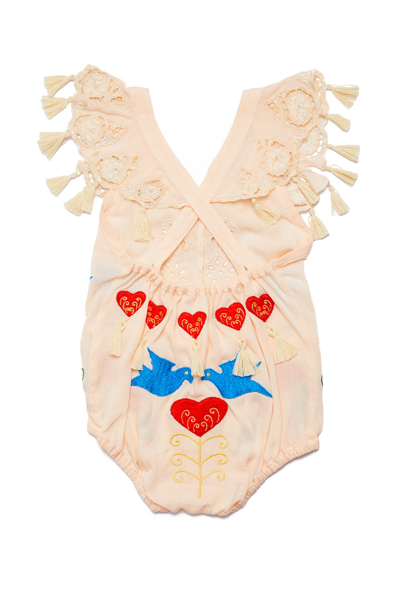 Fillyboo Mini - 'Little Bear' Baby Playsuit - Blush