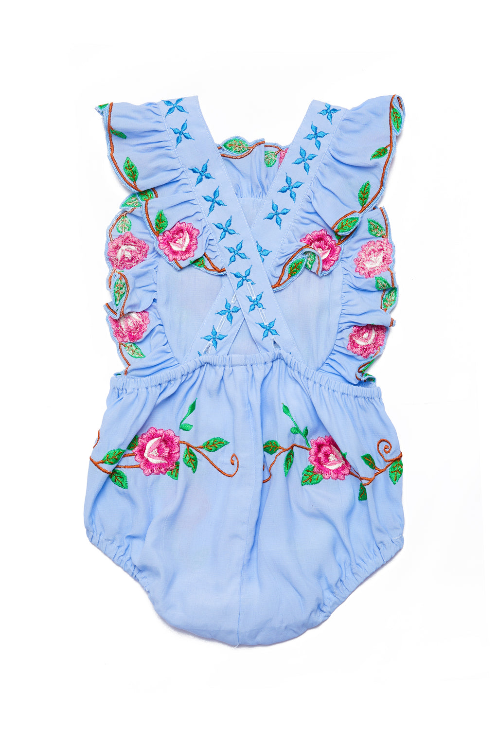 FILLYBOO MINI - 'IS THERE LOVE ON MARS?' - BABY PLAYSUIT - CHAMBRAY