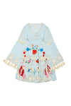 FILLYBOO MINI - 'LITTLE BEAR' - LITTLE GIRLS DRESS - PASTEL JADE