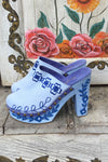 FILLYBOO - FOLK CLOG - DENIM BLUE