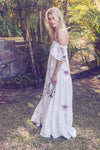 Garden Party - Embroidered maxi dress