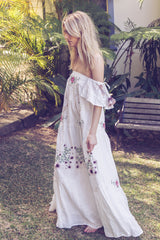 FILLYBOO - 'GARDEN PARTY' - EMBROIDERED MAXI DRESS