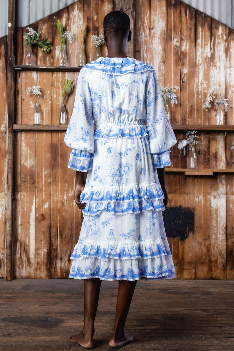 Gazebo Toile - Spiral Frill Day Dress