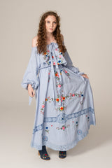FILLYBOO - 'GOT ME PICKING POSIES' SET - TOP & SKIRT - BLUE