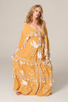 FILLYBOO - 'HEART ON THE FLOOR' - HAND EMBROIDERED DUSTER - GOLD & IVORY