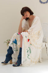FILLYBOO - 'HEART ON THE FLOOR' - HAND EMBROIDERED DUSTER - IVORY