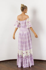 FILLYBOO - 'HUMMINGBIRD' - EMBROIDERED MAXI DRESS - LILAC