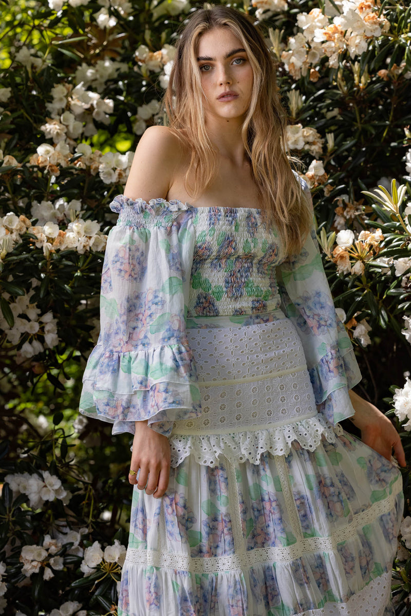Hydrangea - Top & Skirt Set