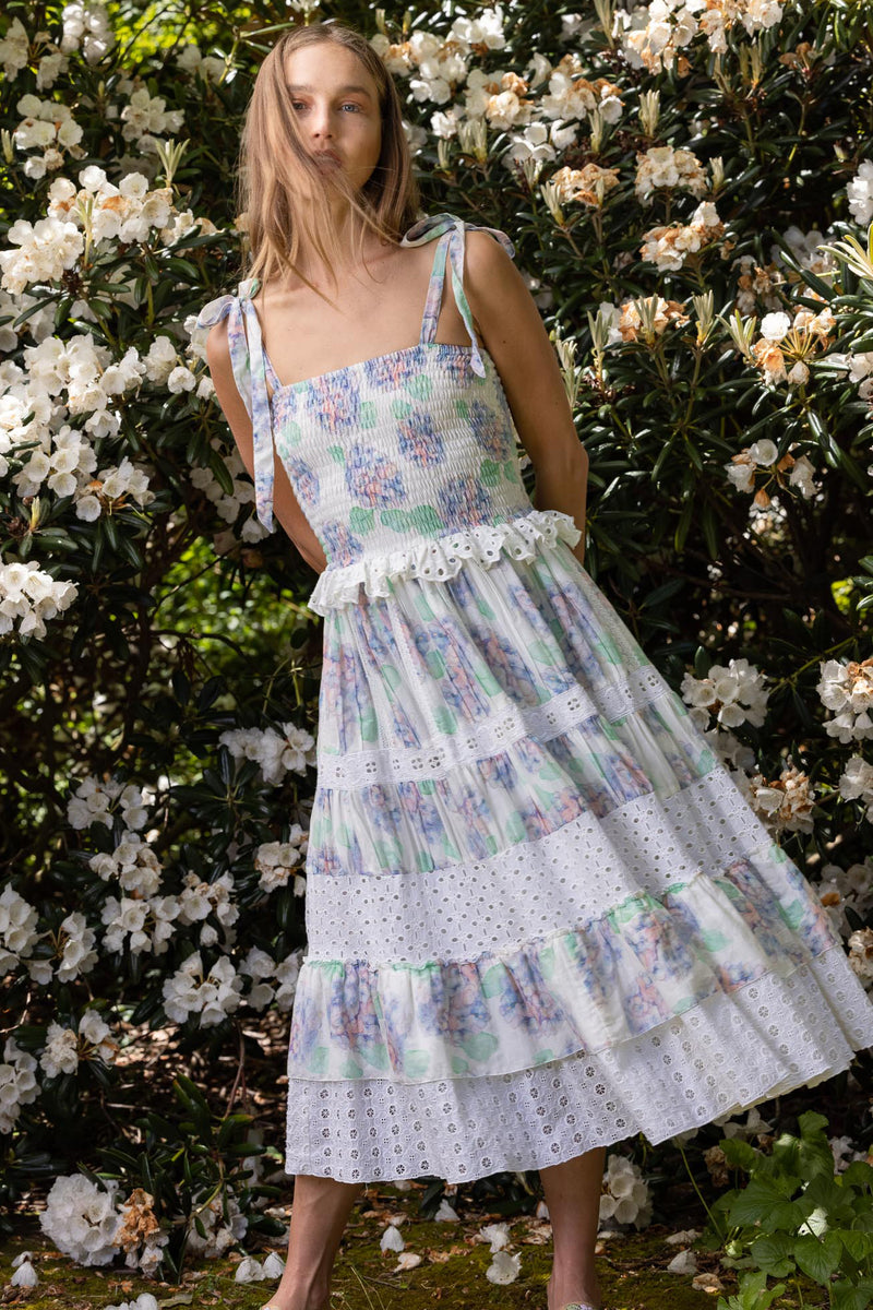 Hydrangea - Spliced Midi Dress