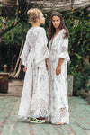 I AM LOLA - Embroidered duster & maxi dress - Beige