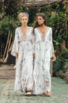 Fillyboo - I AM LOLA - embroidered duster & maxi dress - Ivory