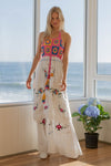 'DOLL HOUSE' - KISS CHASEY EMBROIDERED & CROCHETED MAXI DRESS