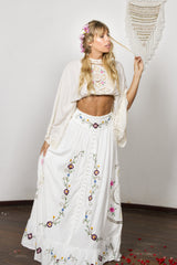 FILLYBOO - 'LOVE NOTE' MIDI-DRESS/MAXI SKIRT - IVORY