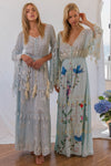 FILLYBOO - 'LITTLE BEAR' - HAND EMBROIDERED MAXI DRESS - 'BABY BABY' BLUE