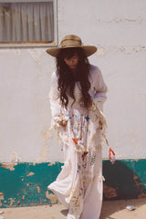 FILLYBOO - 'LITTLE BEAR' - HAND EMBROIDERED MAXI DRESS - BLUSH